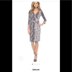 Diane von Furstenberg Julian Silk Midi Wrap Dress